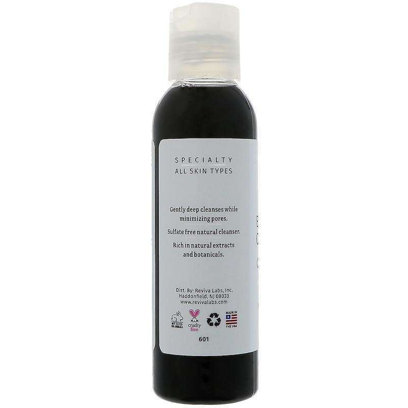 Reviva Labs - Bamboo Charcoal Pore Minimizing Cleansing Gel  - 4 fl oz (118 ml) - AM VITAMINS