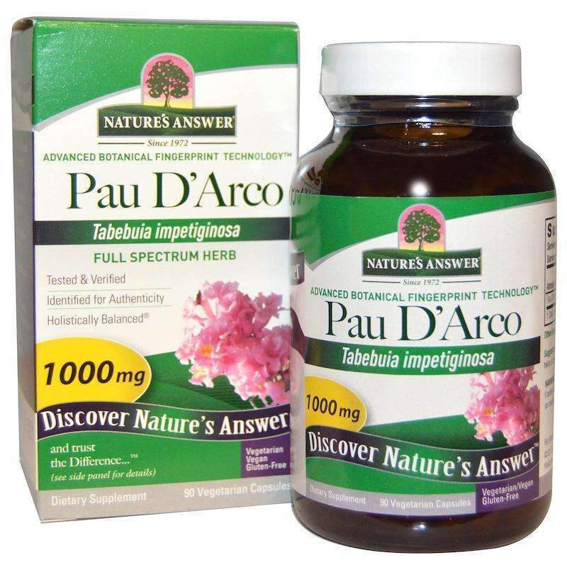 Nature's  Answers - Pau D'Arco, 1000 mg, 90 Vegetarian Capsules - AM VITAMINS