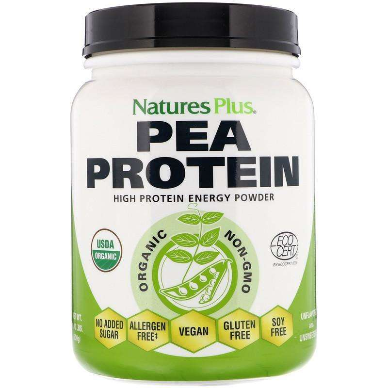 Natures Plus - Organic Pea Protein Powder - 1.10 lbs (500 g) - AM VITAMINS