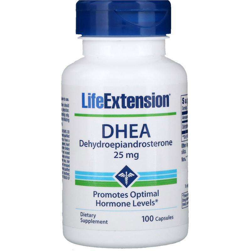 Life Extension - DHEA, 25 MG - 100 CAPSULES - AM VITAMINS