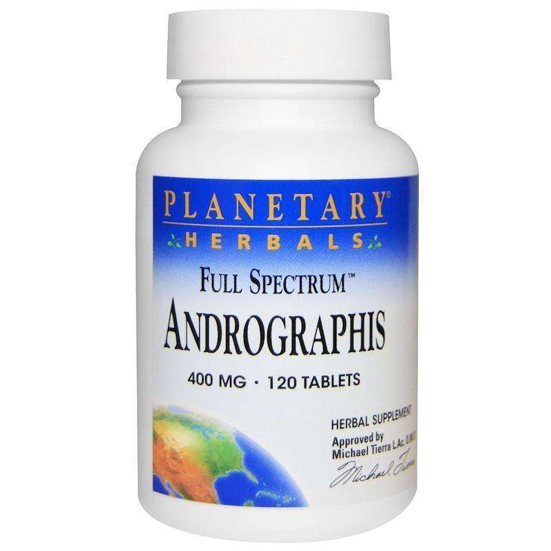 Planetary Herbals - Andrographis, Full Spectrum™ 400 Mg - 120 Tablet - AM VITAMINS