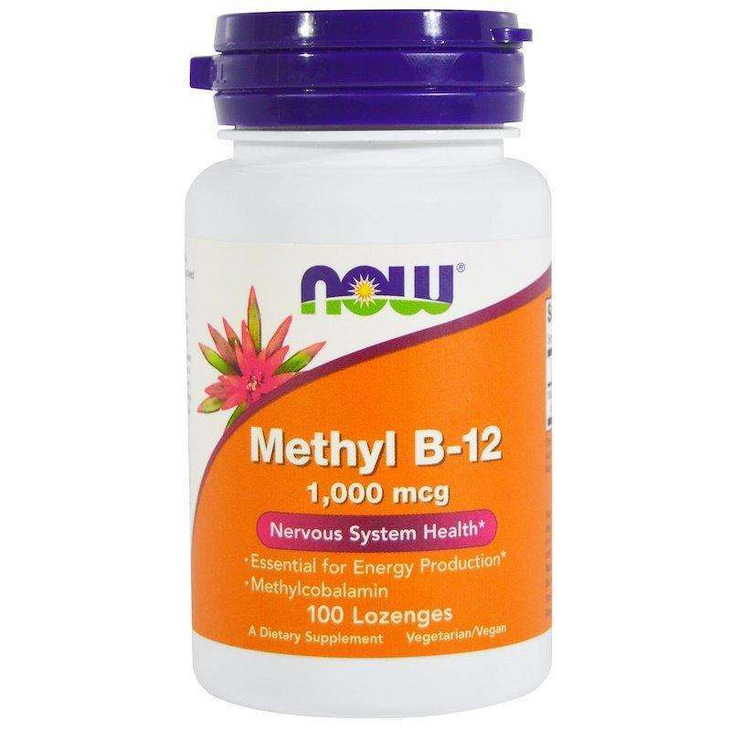 Now Foods - Methyl B-12, 1,000 mcg - 100 Lozenges - AM VITAMINS