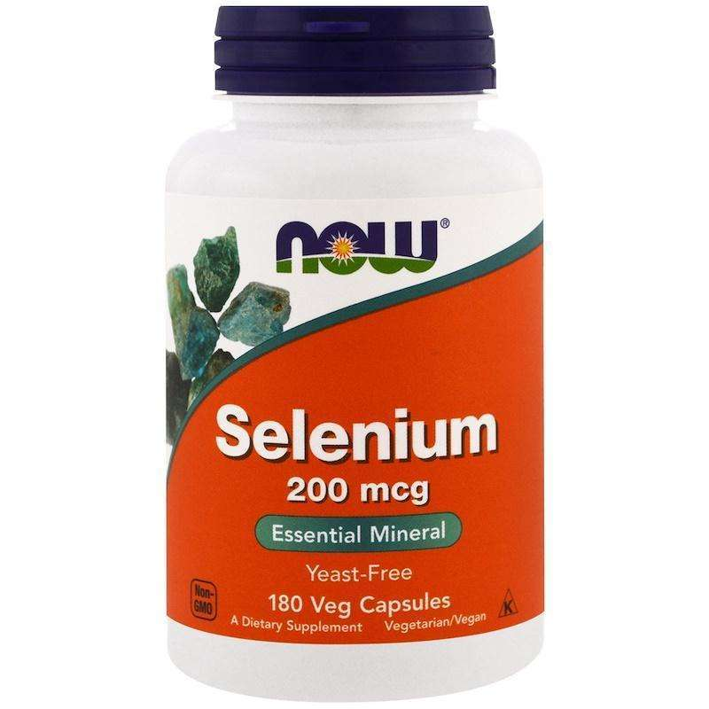 Now Foods - Selenium, 200 mcg - 180 Veggie Caps - AM VITAMINS