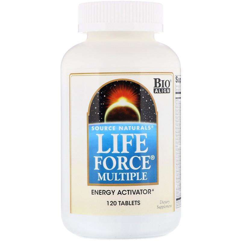 Source Naturals - Life Force® Multiple, No Iron - 120 Tablet - AM VITAMINS
