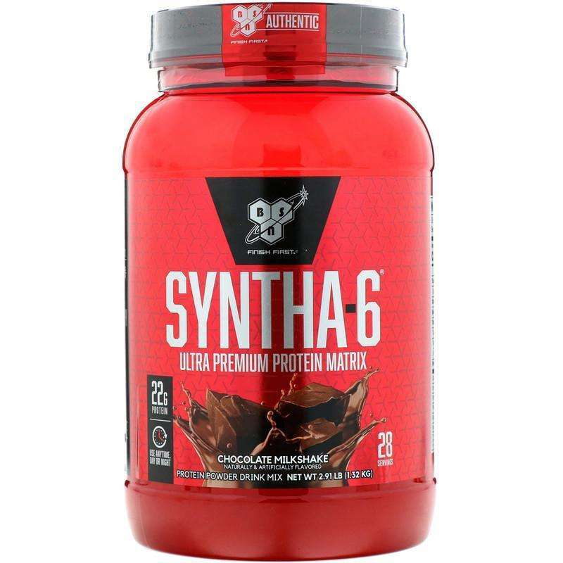 BSN - Syntha-6, Ultra Premium Protein Matrix, Chocolate Milkshake - 2.91 lbs (1.32 kg) - AM VITAMINS
