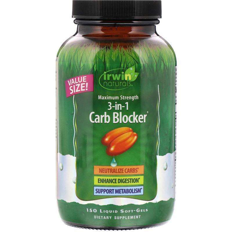 Irwin Naturals - Maximum Strength 3-in-1 Carb Blocker - VALUE SIZE - 150 softgels - AM VITAMINS