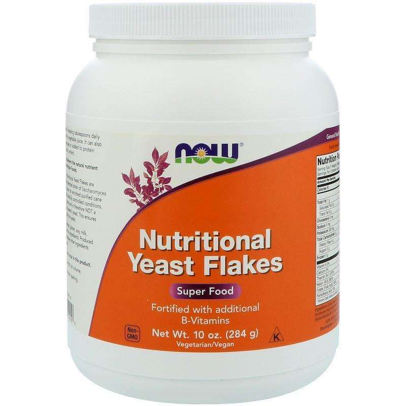 Now Foods - Nutritional Yeast Flakes - 10 oz (284 g) - AM VITAMINS