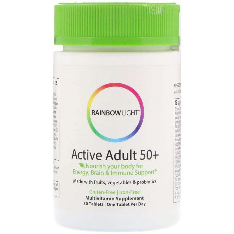 Rainbow Light - Vibrance Active Adult 50+ Non-GMO - 30 Tablets - AM VITAMINS
