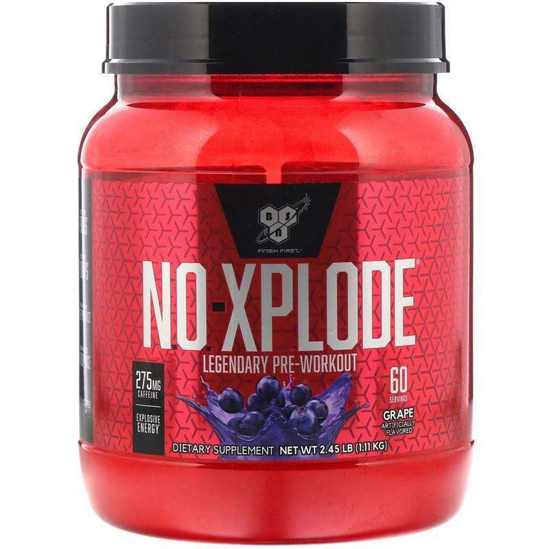 BSN - N.O.-Xplode, Legendary Pre-Workout, Grape - 2.45 lbs (1.11 kg) - AM VITAMINS
