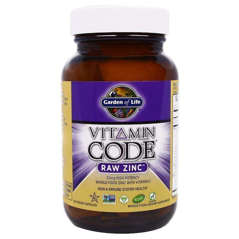 Garden Of Life - Vitamin Code, Raw Zinc, 60 Veggie CAPSULES - AM VITAMINS