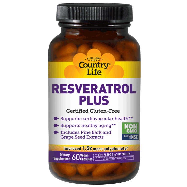 Country Life - Resveratrol Plus - 60 Vegan Caps - AM VITAMINS