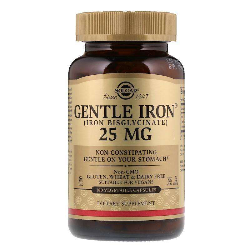Solgar - Gentle Iron® Vegetable Capsules - 180 Capsules - AM VITAMINS