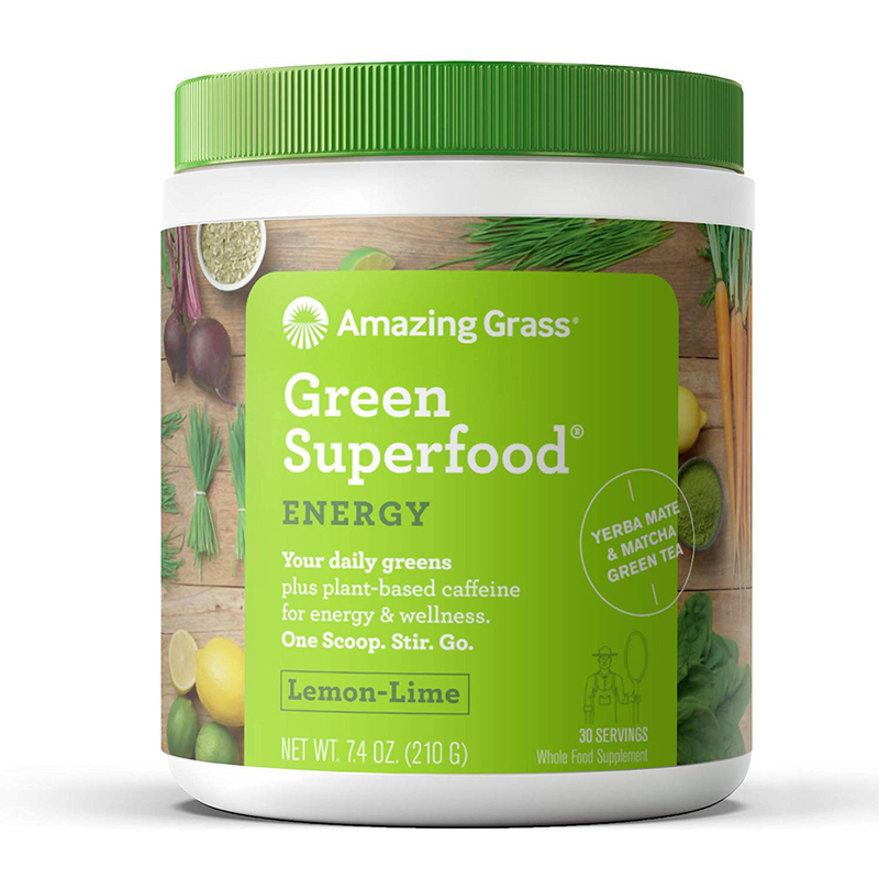 Amazing Grass - Green Superfood Energy Lemon Lime - 30 Servings - 7.4 oz (210 g) - AM VITAMINS