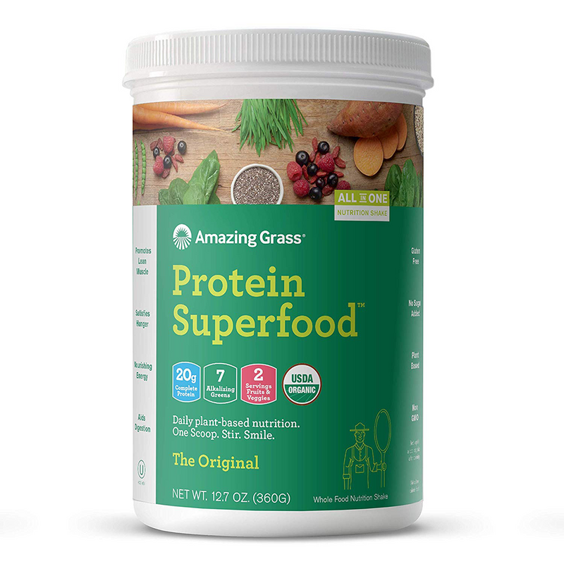 Amazing Grass - Protein Superfood The Original - 12 Servings - 12.2 oz (348 g) - AM VITAMINS