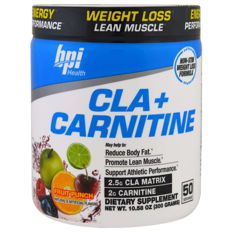 BPI Sports - CLA + Carnitine Fruit Punch - 50 Servings - 10.58 oz (300 g) - AM VITAMINS