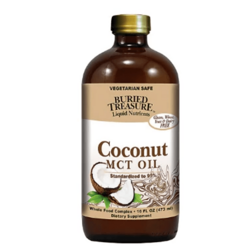 Liquid Nutrients Coconut MCT Oil - 16 fl oz - Buried Treasure - AM VITAMINS