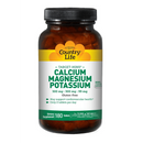 Country Life, Calcium - Target-Mins, Magnesium, and Potassium, 500 mg : 500 mg : 99 mg - 180 Tablets - AM VITAMINS
