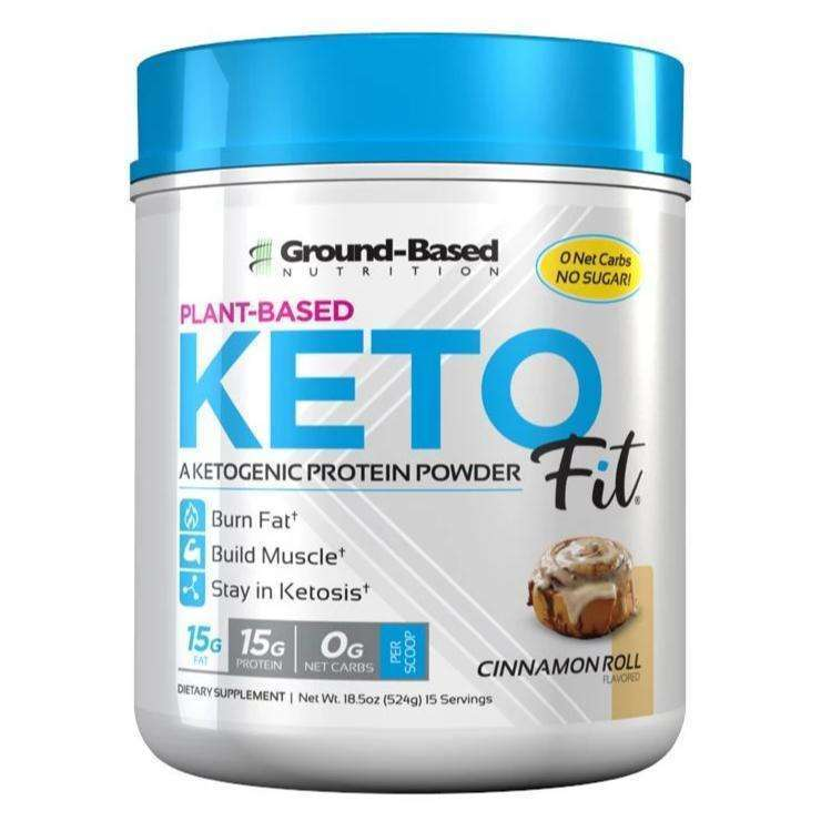 Ground Based - Keto Fit® Protein - Cinnamon Roll - AM VITAMINS