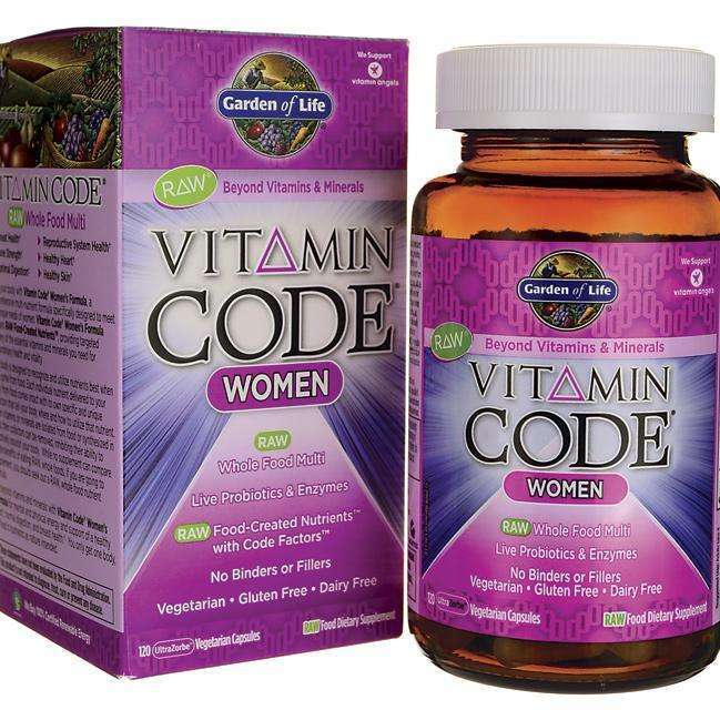 Garden of Life - Vitamin Code Women,  Live Probiotics and Enzymes - 120 Veggie Caps - AM VITAMINS