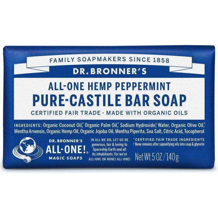 Dr Bronners - Organic Castile Bar Soap Peppermint - AM VITAMINS