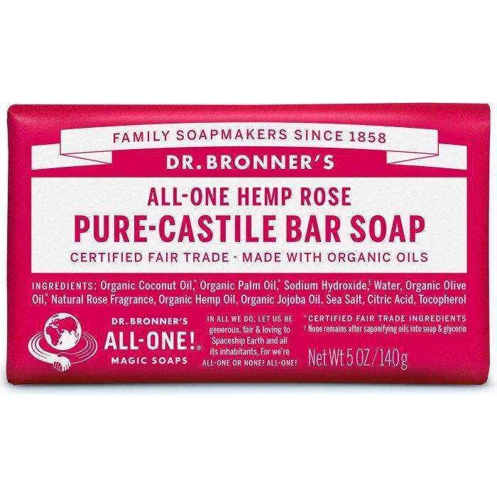 Dr Bronners - Organic Castile Bar Soap Rose - AM VITAMINS
