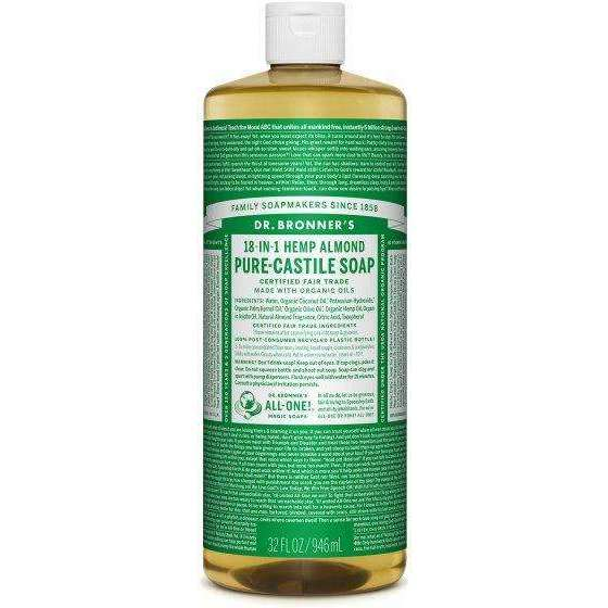 Dr Bronners - Organic Castile Liquid Soap Almond - 32 fl oz - AM VITAMINS