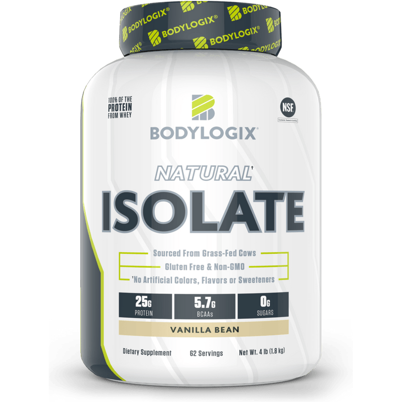 Bodylogix - Natural Whey Protein Isolate - Vanilla - 4lb - AM VITAMINS