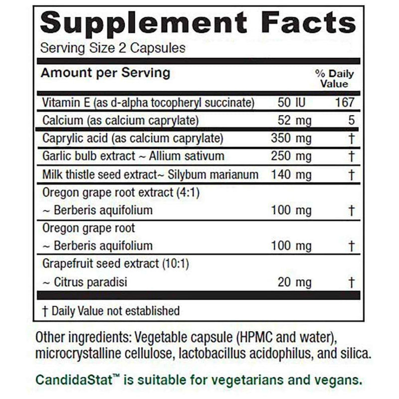 CandidaStat Dietary Suppliment - 120 Capsules - Vitanica
