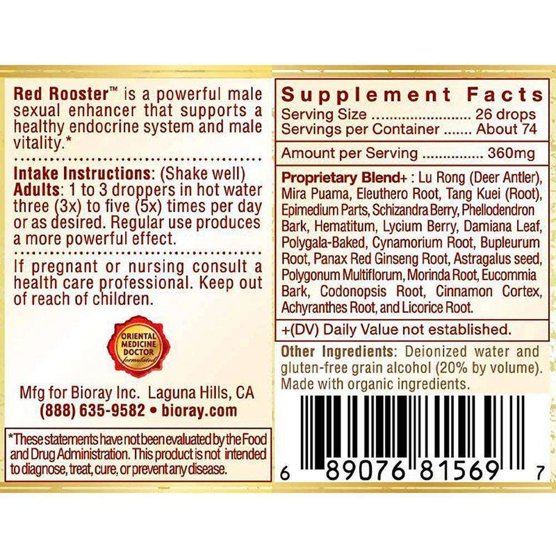 Red Rooster Male Energizing Tonic  2 Fl oz - Bioray