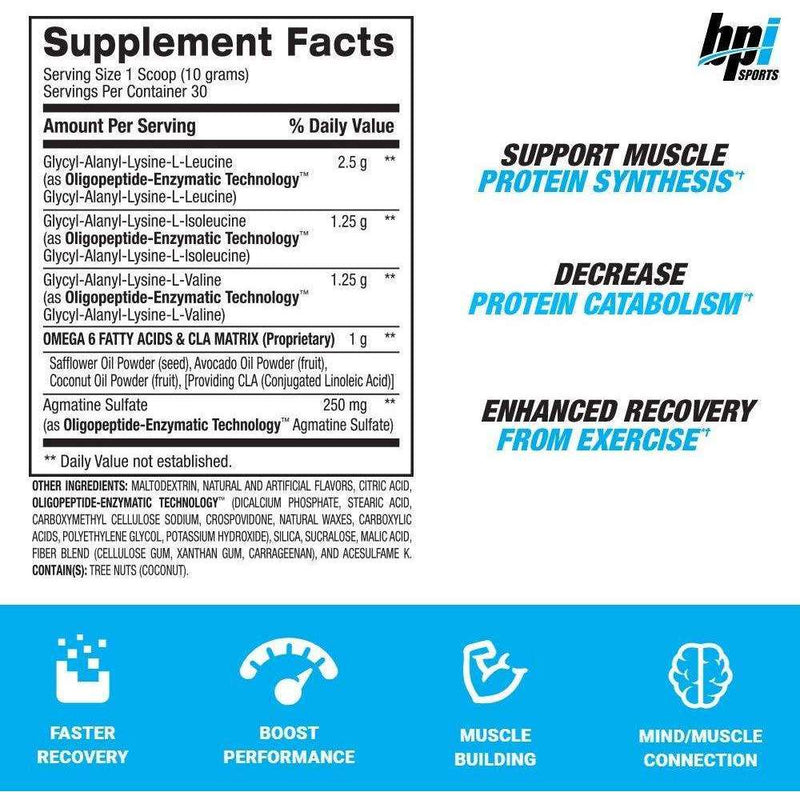 BPI Sports - Best BCAA Grape - 30 Servings - 10.58 oz (300 g) - AM VITAMINS