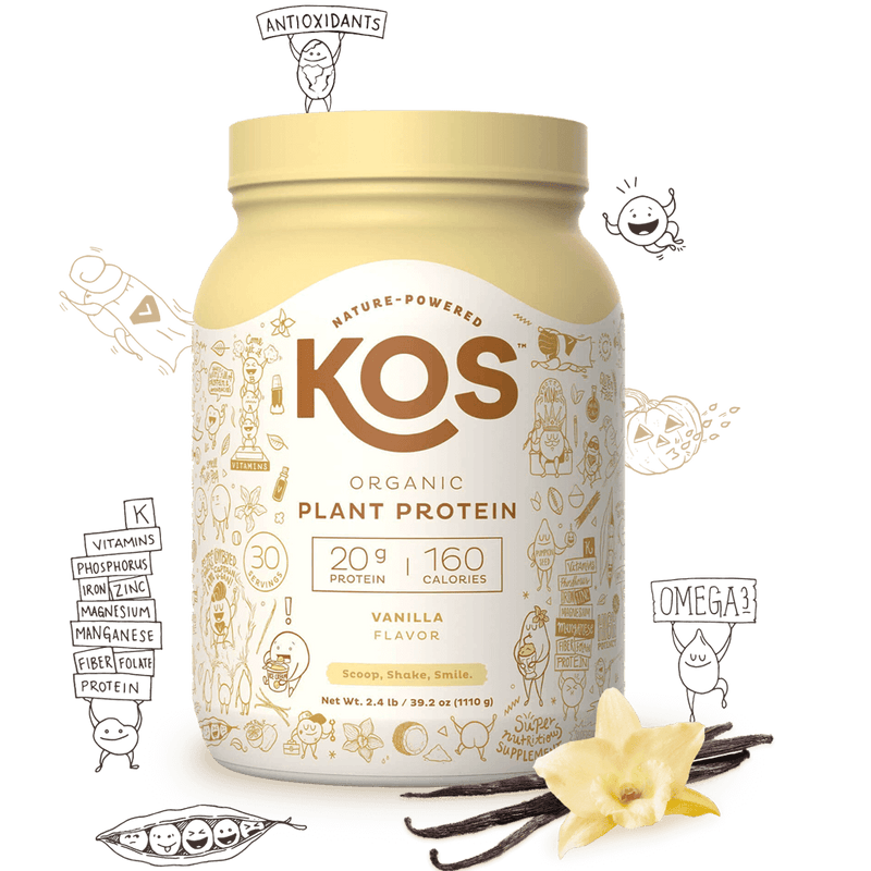 KOS - Organic Plant-Based Protein Powder Vanilla 2.2lb - AM VITAMINS