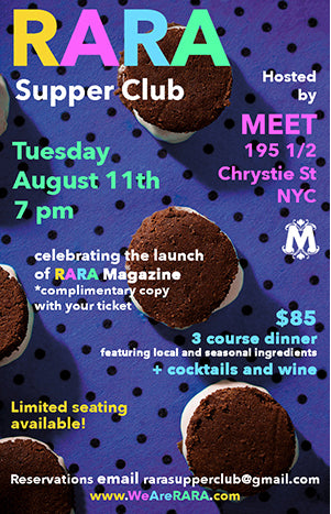 RARA Magazine Supper Club