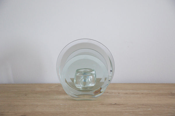 Mirrored circle candle holder