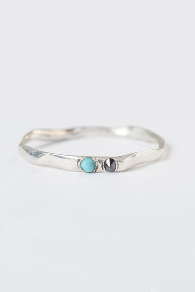 twig ring two stones