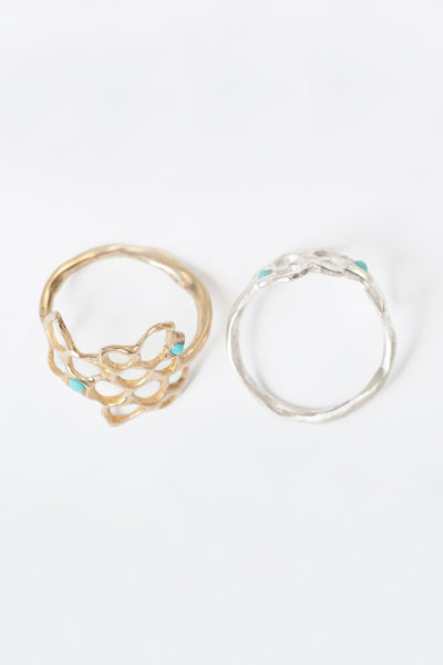 arabella brass w/ turquoise ring