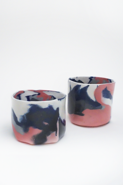 Marbled porcelain cup - Young & Able  - 2