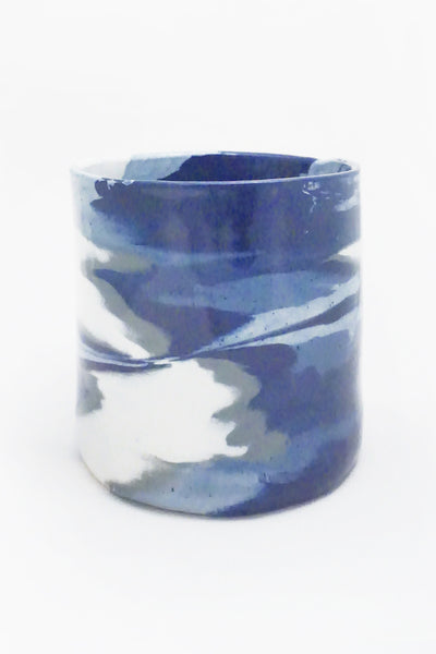 Blue Marbled Ceramic Vase - Young & Able  - 1