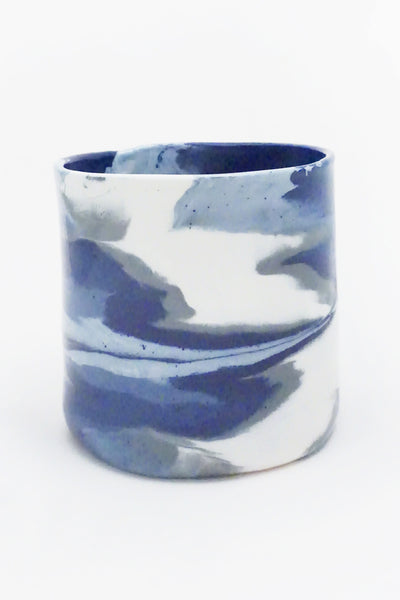 Blue Marbled Ceramic Vase - Young & Able  - 2