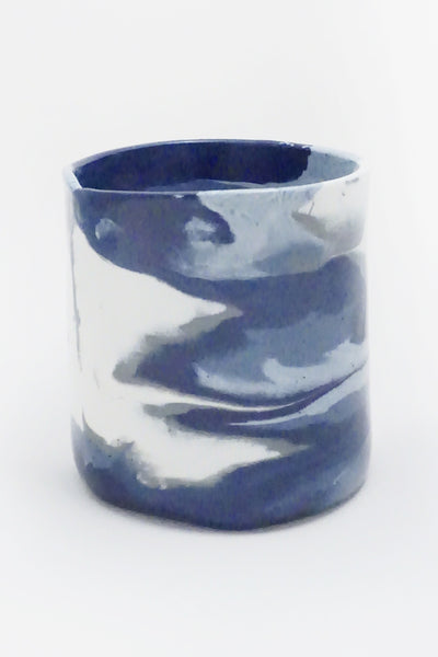 Blue Marbled Ceramic Vase - Young & Able  - 3