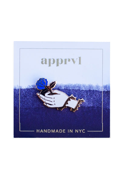 Indigo Rose Enamel Pin - Young & Able  - 1