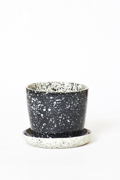 Black All-In-One Speckled Planters - Young & Able  - 1
