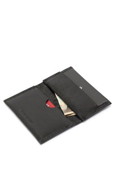 Bi-fold Leather Wallet - Black - Young & Able  - 1