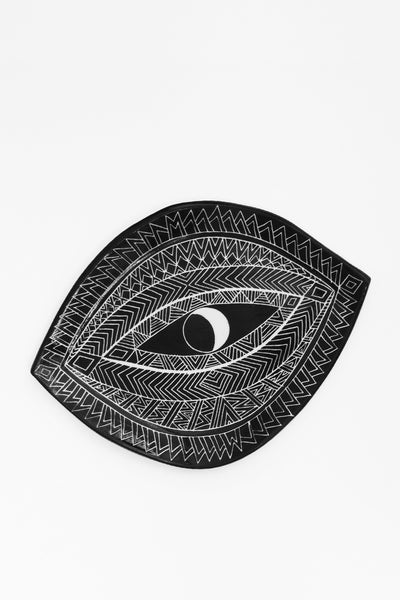 Sgraffito Spirit Eye Platter - Black - Young & Able