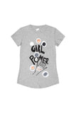 Girl Power Woman Easy Crewneck - Round Hem