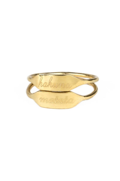 """Hakuna Matata"" No Worries Stacking Ring"