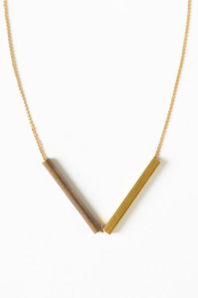 Multi Arrow Necklace on Copper Chain - Young & Able  - 1