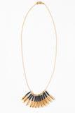 Black Gold Cluster Necklace - Young & Able  - 1