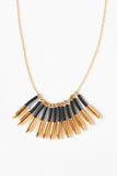 Black Gold Cluster Necklace - Young & Able  - 2