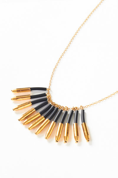 Black Gold Cluster Necklace - Young & Able  - 3