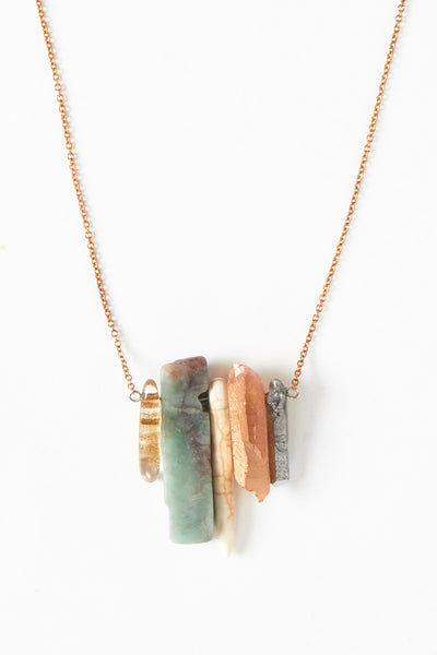 Rainbow Pendant Necklace - Young & Able  - 1